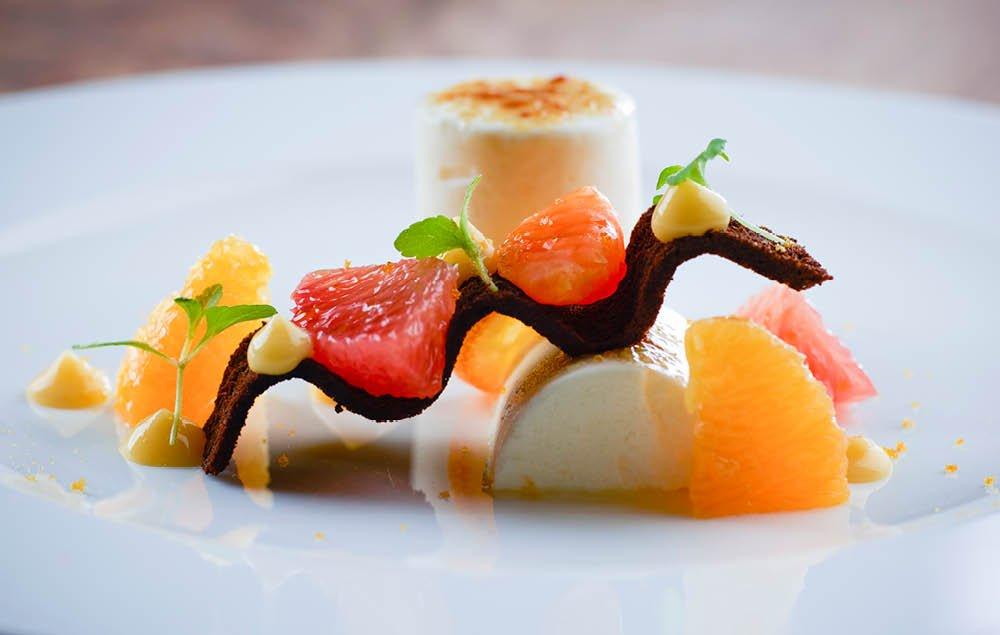 Bergamotte Halbgefrorenes, Zitrusfruechte